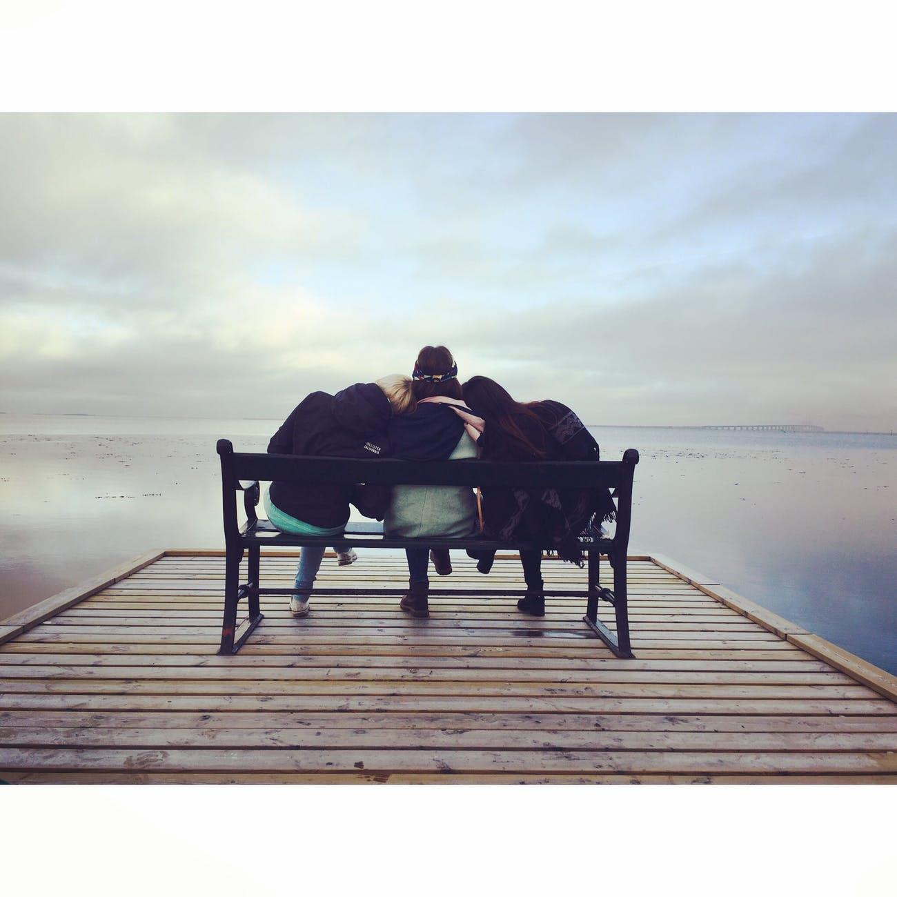 bench chair friends friendship